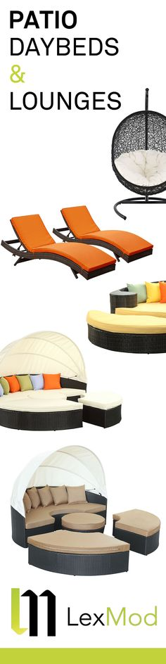 Modern Patio Daybeds and Lounges | Factory Direct Pricing at LexMod.com