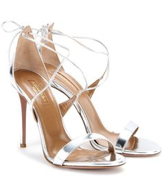 Aquazzura Linda 105 Metallic Leather Sandals For Spring-Summer 2017