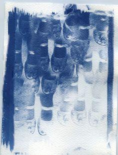 Athena Kathem-self portraits-cyanotype