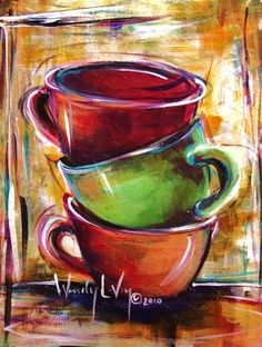 if i needed more coffee cup paintings.