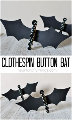cute clothespin button bat craft - Family Fun Magazine Halloween Crafts