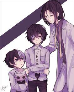 Mori, Q, and Dazai. I love this picture