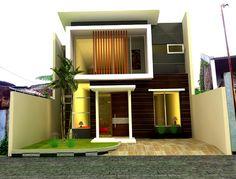 dua lantai gaya kontemporer keren #rumah #minimalis #fasad #desain