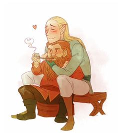 For Legolas/Gimli shipping and general LOTR Hobbit Art, O Hobbit, Legolas Und Gimli, Gandalf, Lotr, Sherlock, Monkey Drawing, Elven Queen, Bagginshield