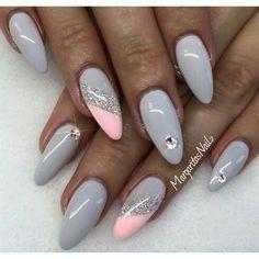 Nail gray pink