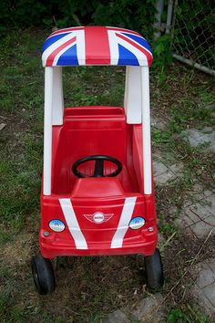 Cozy Coupe to Cozy Cooper redo! Paint your Cozy Coupe.