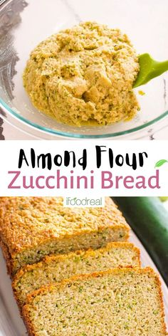 Almond Flour Zucchini Bread with perfect texture, is incredibly delicious, naturally gluten-free, oil-free, refined sugar-free and made with only 4 basic ingredients plus pantry staples. This moist quick bread can be made traditionally in the oven or if you are short on time (or need to keep the house cool), bake it in the air fryer! Zucchini Bread, Quick Bread, Almond Flour, Sugar Free, Banana Bread, Oven, Gluten Free, Baking, Cooking Tips