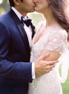 Gorgeous dress! Colorful Beaulieu Garden Wedding. Jose Villa Photography.