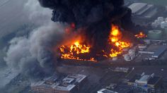 Hertfordshire Oil Storage Terminal Fire, December 2005. That Sunday morning there was a series of major explosions at one of the biggest oil depots in the UK — 270,000,000-litre capacity — in Buncefield, England. The explosions were heard over 160km away, as far as the Netherlands and France. Astonishingly, there was not a single fatality.