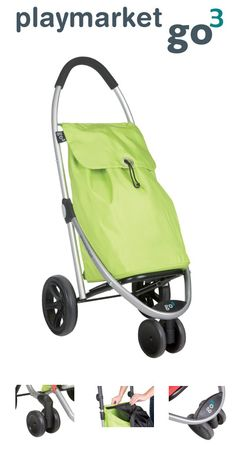 Playmarket Go 3 Front Swivel Wheel Shopping Trolley Citron Playmarket presents its new innovative Go 3 shopping trolley with a bold design that sets itself apart from other models available on the market. Its dual front wheel capable of turning through 360º improves its features and handling,