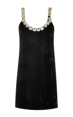 Crushed velvet minidress with Swarovski crystal neckline by Marc Jacobs