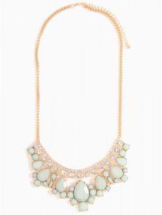 Epoxy Stone Bib Necklace