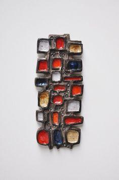 Anonymous; Glazed Ceramic Wall Plaque by Perignem, c1960.