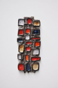 Anonymous; Glazed Ceramic Wall Plaque by Perignem, c1960.