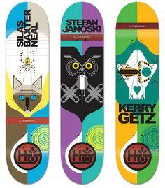 Charley Harper skateboard decks by Habitat Skateboards