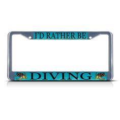 Chrome License Plate Frame Keep Calm And Dance Auto Accessory Novelty