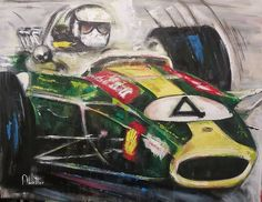 Lotus acrylic on cancas R Lotus F1, South African Art, Fanart, Darth Vader, Artist, Painting, Fictional Characters, Artists, Painting Art