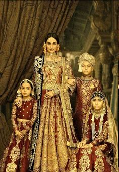 """High Fashion Pakistan is part of Indian bridal fashion - Ali Xeeshan's """"The Royal Family Portraits"""" Haute Couture Style, Pakistani Couture, Pakistani Bridal, Ethnic Outfits, Indian Outfits, Royal Family Portrait, Family Portraits, Ali Xeeshan, Royal Indian"""