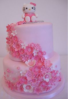 Feik Hello Kitty Cake Floral Pictures Cakes And More