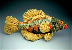 Ceramic fish by Crain Art Studio.