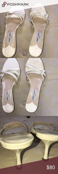 "Jimmy Choo kitten heels. Jimmy Choo open toe kitten heels. Authentic and in good condition. Heels 3"". Jimmy Choo Shoes Sandals"