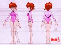 this is my first deviantART commission i hope you like it ^___^ *ranma is a property of rumiko takahashi® ranma (ranko) model sheet Model Sheet Character, Female Character Design, Character Modeling, Character Design References, 3d Character, Character Concept, Concept Art, Character Turnaround, Female Cartoon Characters