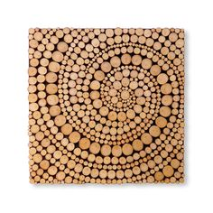 WOOD SLICE Wall Art Spiral, Modern Rustic Decor, Wood Wall Sculpture, Abstract, Tree Branch Rings http://etsy.me/2mPxcM5 #housewares #homedecor #brown #office #beige #woodworkingcarpentry #wood #slice #round