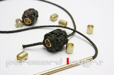 Turk's head knot on the brass beads