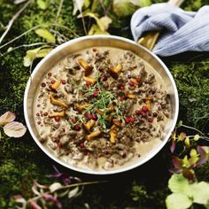 """Another pinner: """"Swedish reindeer stew with golden chanterelles and lingonberries"""" -This looks really good! Meat Recipes, Snack Recipes, Cooking Recipes, Healthy Recipes, Healthy Food, Hot Cocoa Recipe, Swedish Recipes, Swedish Foods, Good Food"""