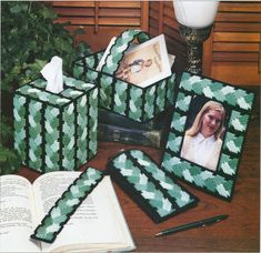 Plastic Canvas ePatterns and Books Plastic Canvas Ornaments, Plastic Canvas Tissue Boxes, Plastic Canvas Crafts, Plastic Canvas Patterns, Tissue Box Holder, Tissue Box Covers, Canvas Picture Frames, Needlepoint Patterns, Covered Boxes