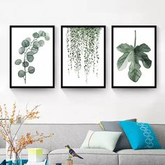 Cheap canvas art print poster, Buy Quality art print poster directly from China wall pictures Suppliers: Watercolor Tropical Plant leaves Canvas Art Print Poster , Nordic Green Plant leaf rural Wall Pictures for Home Decoration Decoration, Art Decor, Home Decor, Canvas Art Prints, Canvas Wall Art, Plant Painting, Watercolor Painting, Watercolors, Tropical Plants