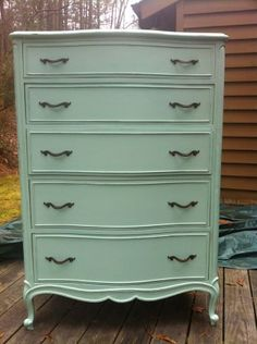 "paint dresser ""Sea glass"" from Martha Stewart collection"