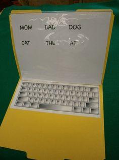 How to Make a File Folder Laptop