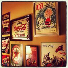 elephant22_54さんの、レトロ,ピーナッツ,snoopy,スヌーピー,雑貨,アンティーク,TEXACO,coca-cola,Charlie Brown,PEPSI,Sign,壁/天井,のお部屋写真