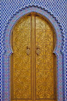Morocco Travel Inspiration - Gate of the Royal Palace in Fez, Morocco   by Karim Taib