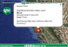 EARTHQUAKE M 2.8 - SAN FRANCISCO BAY AREA, CALIF. - 2016-02-15 00:17:24 UTC