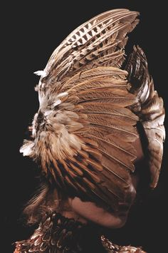 alexander mcqueen f/w 2006, 'the widows of culloden', inspired by alfred hitchcock's 'the birds'