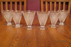Wonderful Set Of Six Vintage Westmoreland English Hobnail Clear Juice Glasses #Westmoreland