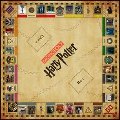 Harry Potter Monopoly  Digital Copy by Desiren on Etsy, $10.00  Or maybe buy this one.  Has a little more for less it seems