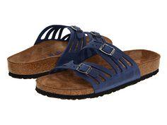 Birkenstock Granada Soft Footbed Twilight Blue Oiled Leather - 6pm.com