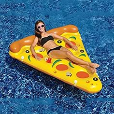Swimline 90645 Giant Inflatable Pizza Slice Float Raft for The Lake Beach Pool in Toys & Hobbies, Outdoor Toys & Structures, Sand & Water Toys, Floats, Rafts Inflatable Float, Giant Inflatable, Pizza Pool Float, Sommer Pool Party, Water Pool Games, Pool Fun, Pool Rafts, Swimming Pool Water, Pool Lounge