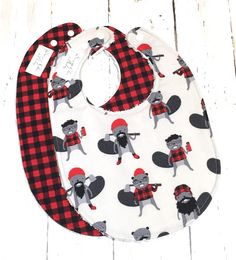 Lumberjack Baby Bibs for Baby Boy Set of 2 by SugarChicBaby