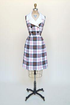 Vintage 1960s Plaid Dress