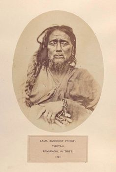 Tibetan Lama - photograph by Simpson [People of India, 1860's] notice the furrowing of the forehead /brows..what was he worried about