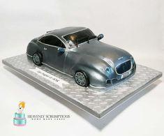 - cake by Iwona Sobejko Birthday Cakes For Men, Man Birthday, Birthday Parties, Bently Car, Minnie Mouse, Car Cakes, Funny Cake, Novelty Cakes, Art Design