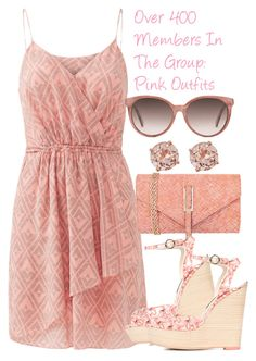 """""""Over 400 Members In The Group: ♥ P!NK OUTF!TS ♥"""" by deedee-pekarik ❤ liked on Polyvore featuring Rebecca Taylor, JNB, Sophia Webster, Gucci, Pink, PinkDress and PinkOutfits"""
