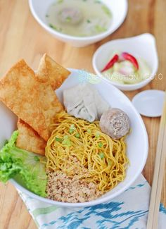 Cwi Mie Malang - One of many chicken noodle varieties in Indonesia. This noodle is found in many street hawkers in East Java