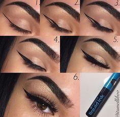 "Find out even more details on ""eyeliner for beginners"". Look into our internet site. Makeup Eye Looks, Cat Eye Makeup, Eye Makeup Tips, Makeup Hacks, Makeup Inspo, Eyeshadow Makeup, Makeup Cosmetics, Eyeliner Brands, Eyeliner Pen"