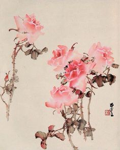 Ink painting by Chinese-Japanese artist He Baili