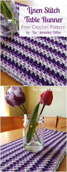 I am going to show you some crochet Table Runner patterns which will increase your home décor!Linen Stitch Crochet Table Runner